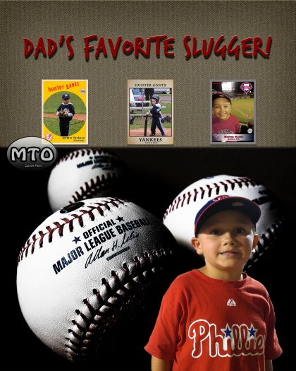 Custom Photo Creation - Baseball Card Collage Poster