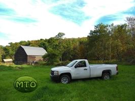 White Truck in a Farmers Field