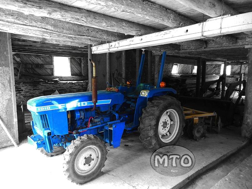 Blue Ford Tractor Color Splash