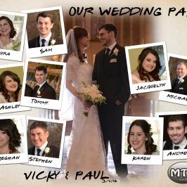 Custom Photo Creation - Wedding Party Polaroid Collage