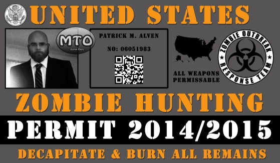 Custom Photo Creation - Zombie Permit
